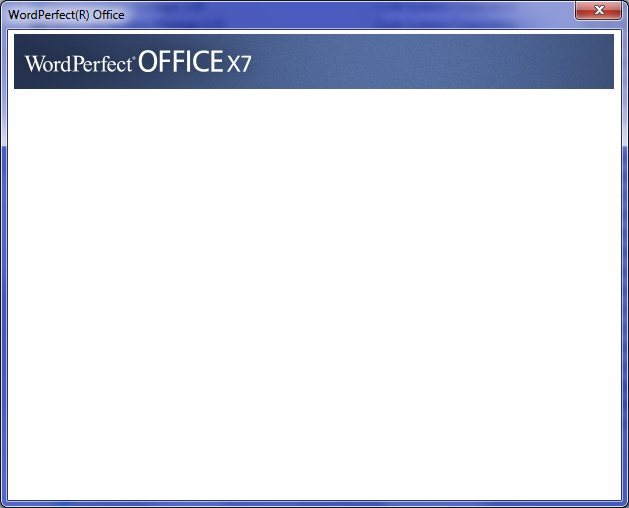 Below Is A Screen Capture Of The Blank Window I Get After Initial Registration